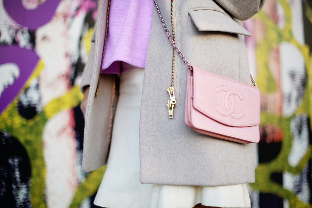 jcrew sweater, white chanel skirt, pink chanel crossbody and jcrew jacket 9.jpg