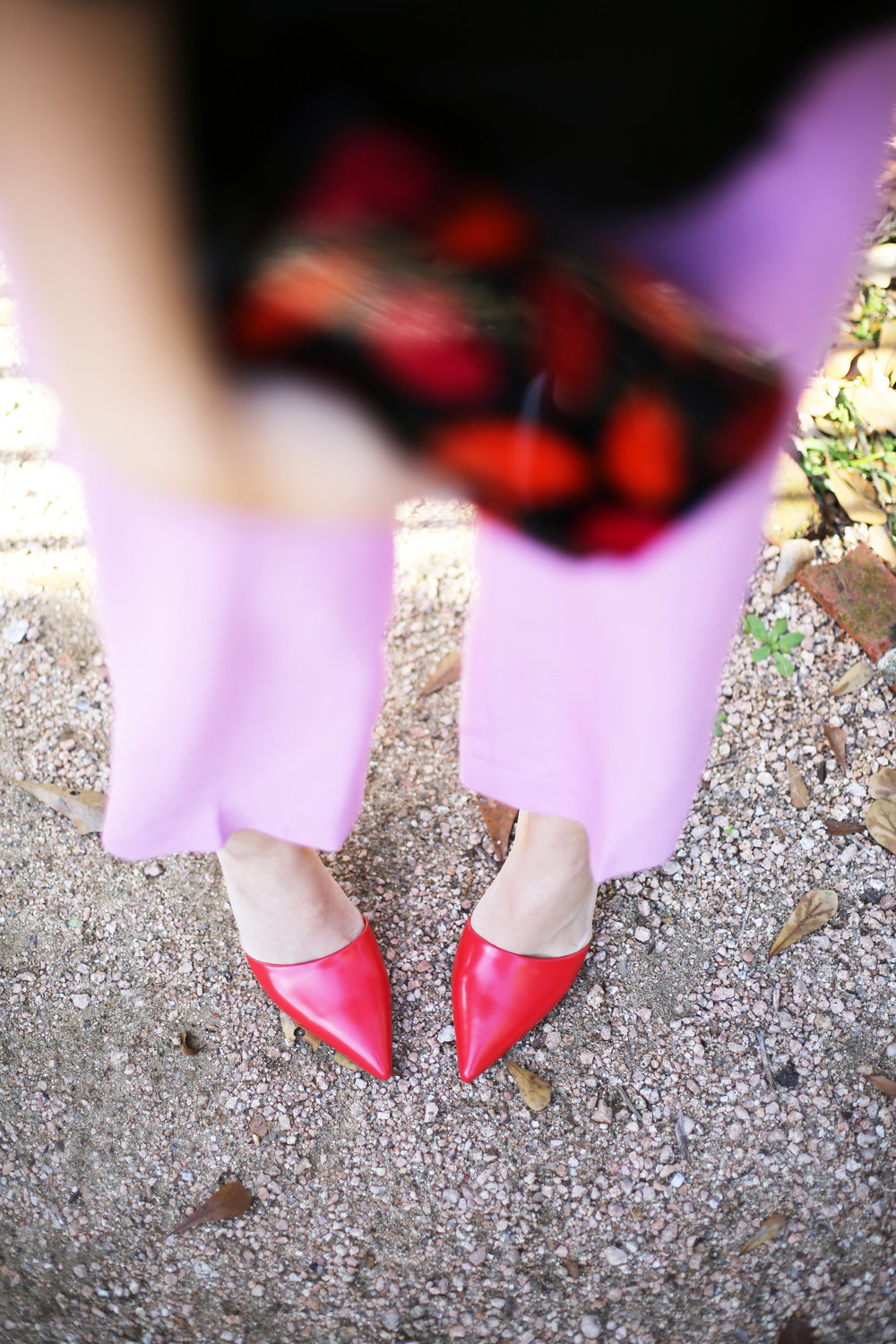 J.Crew Pink pants, hunter bell fringe top, red shiny ponies and DVF lip clutch. Valentine's Day Fashion 8.jpg