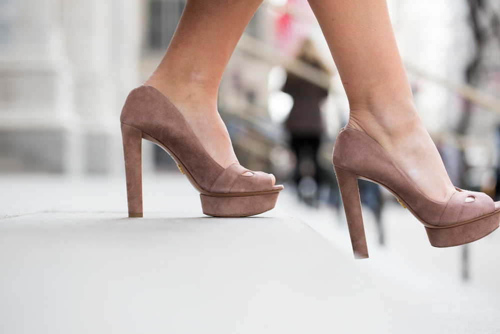 NYFW Chanel set with Prada heels and Vintage Fur Jacket 1.jpg