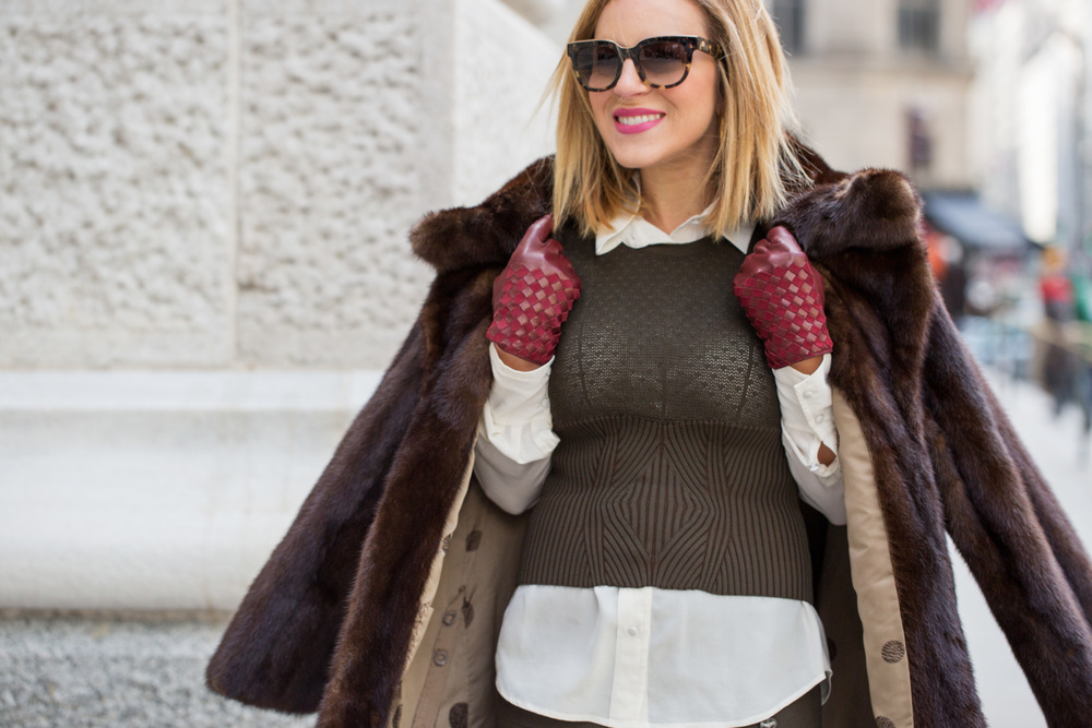 NYFW Chanel set with Prada heels and Vintage Fur Jacket 7.jpg