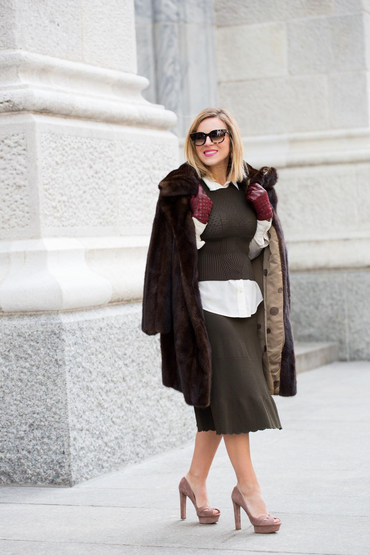 NYFW Chanel set with Prada heels and Vintage Fur Jacket 9.jpg
