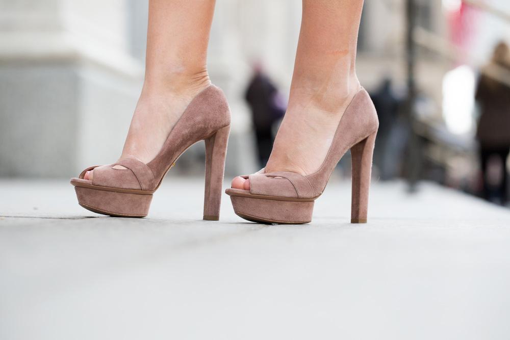 NYFW Chanel set with Prada heels and Vintage Fur Jacket 2.jpg