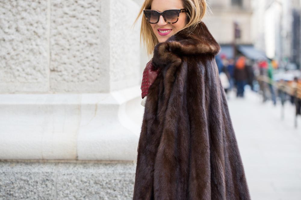 NYFW Chanel set with Prada heels and Vintage Fur Jacket 6.jpg