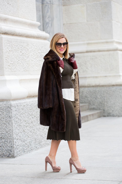 NYFW Chanel set with Prada heels and Vintage Fur Jacket 8.jpg