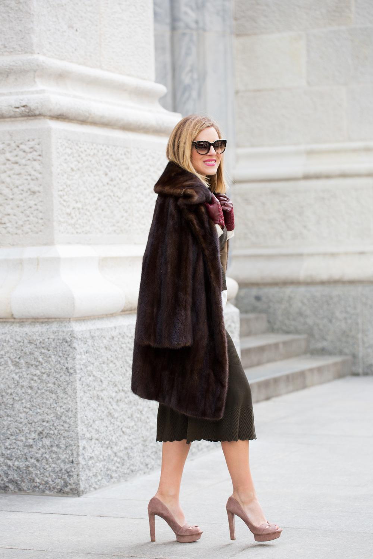 NYFW Chanel set with Prada heels and Vintage Fur Jacket 10.jpg