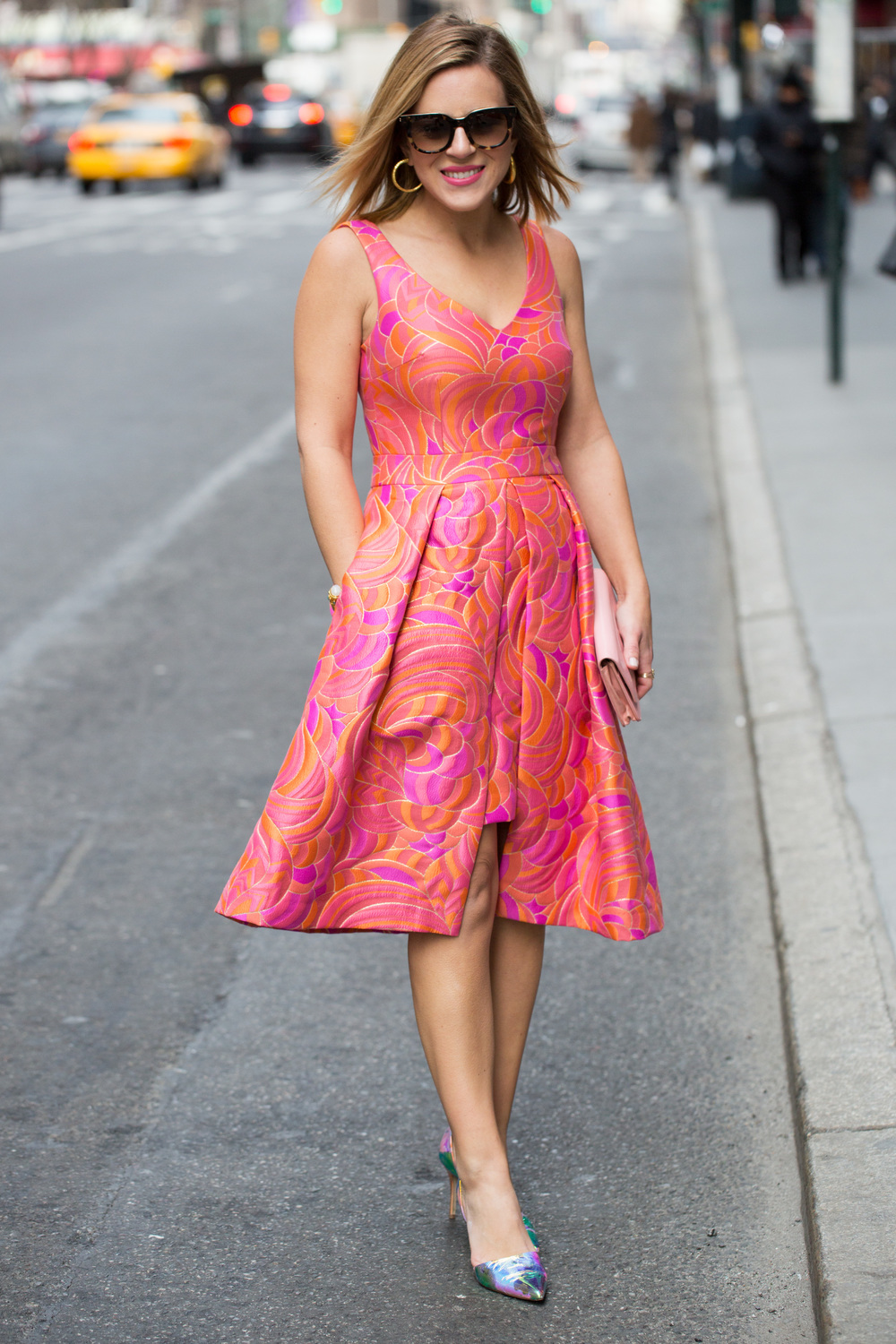 Trina Turk pink and orange dress 1.jpg