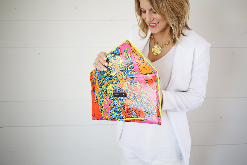 Kent Stetson colorful clutch- how to accesorize! 1.jpg