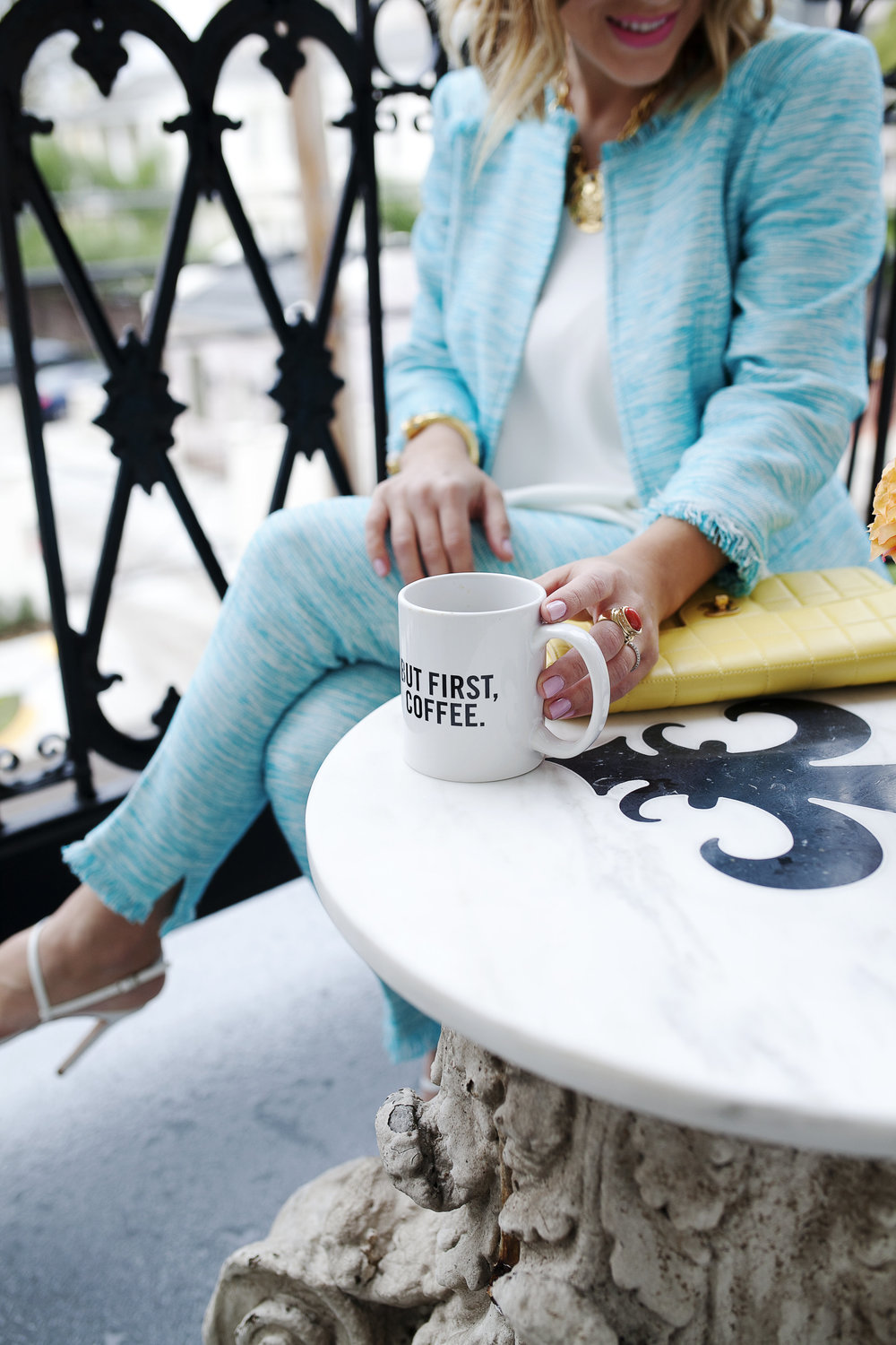 Trina Turk Turquoise matching set: yellow chanel: New Orleans Boutique Hotel- .jpg