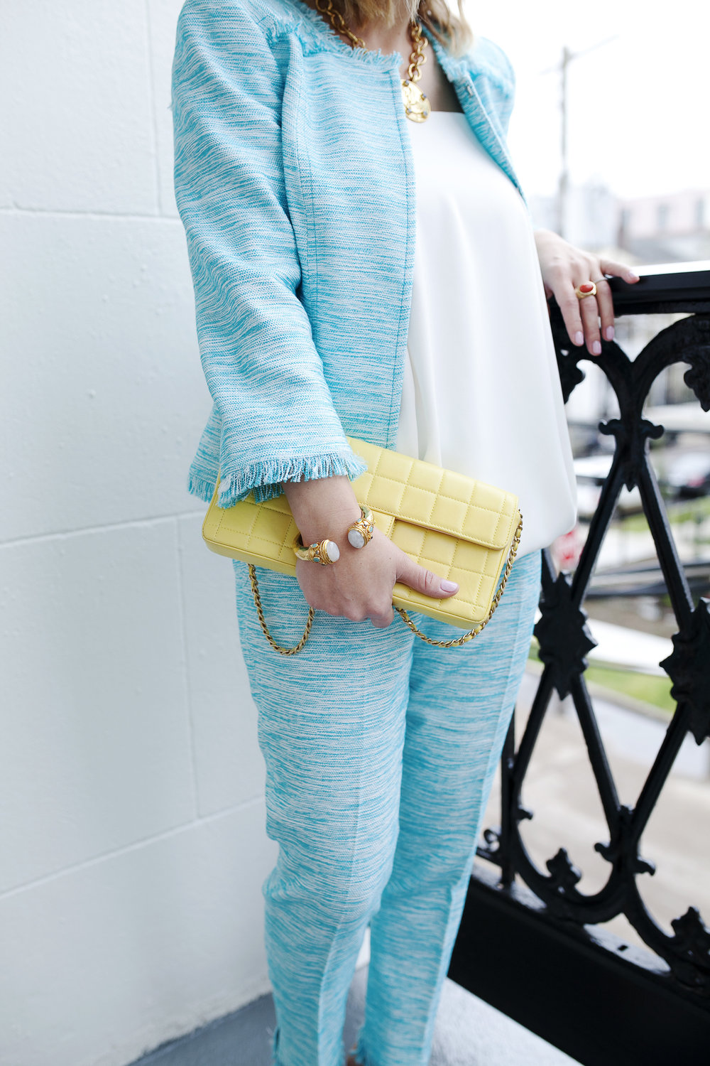 Trina Turk Turquoise matching set: yellow chanel: New Orleans Boutique Hotel- 2.jpg