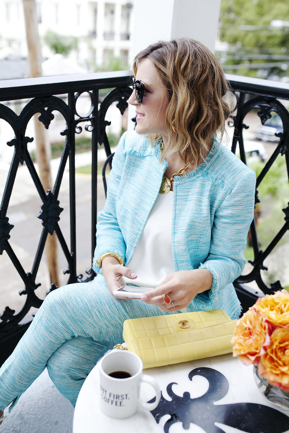 Trina Turk Turquoise matching set: yellow chanel: New Orleans Boutique Hotel- 6.jpg