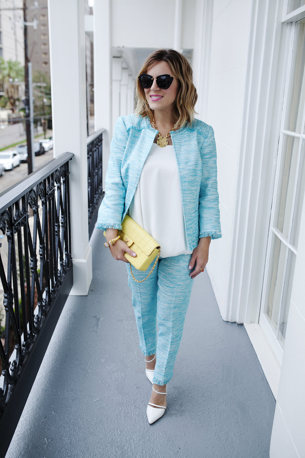 Trina Turk Turquoise matching set: yellow chanel: New Orleans Boutique Hotel- 8.jpg