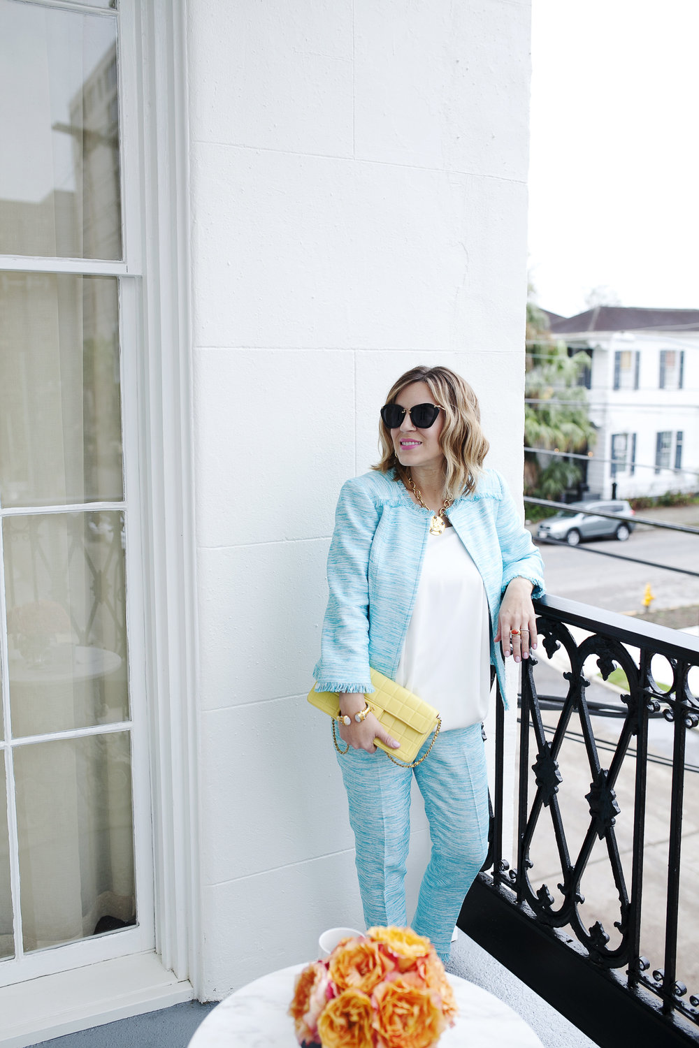 Trina Turk Turquoise matching set: yellow chanel: New Orleans Boutique Hotel- 1.jpg