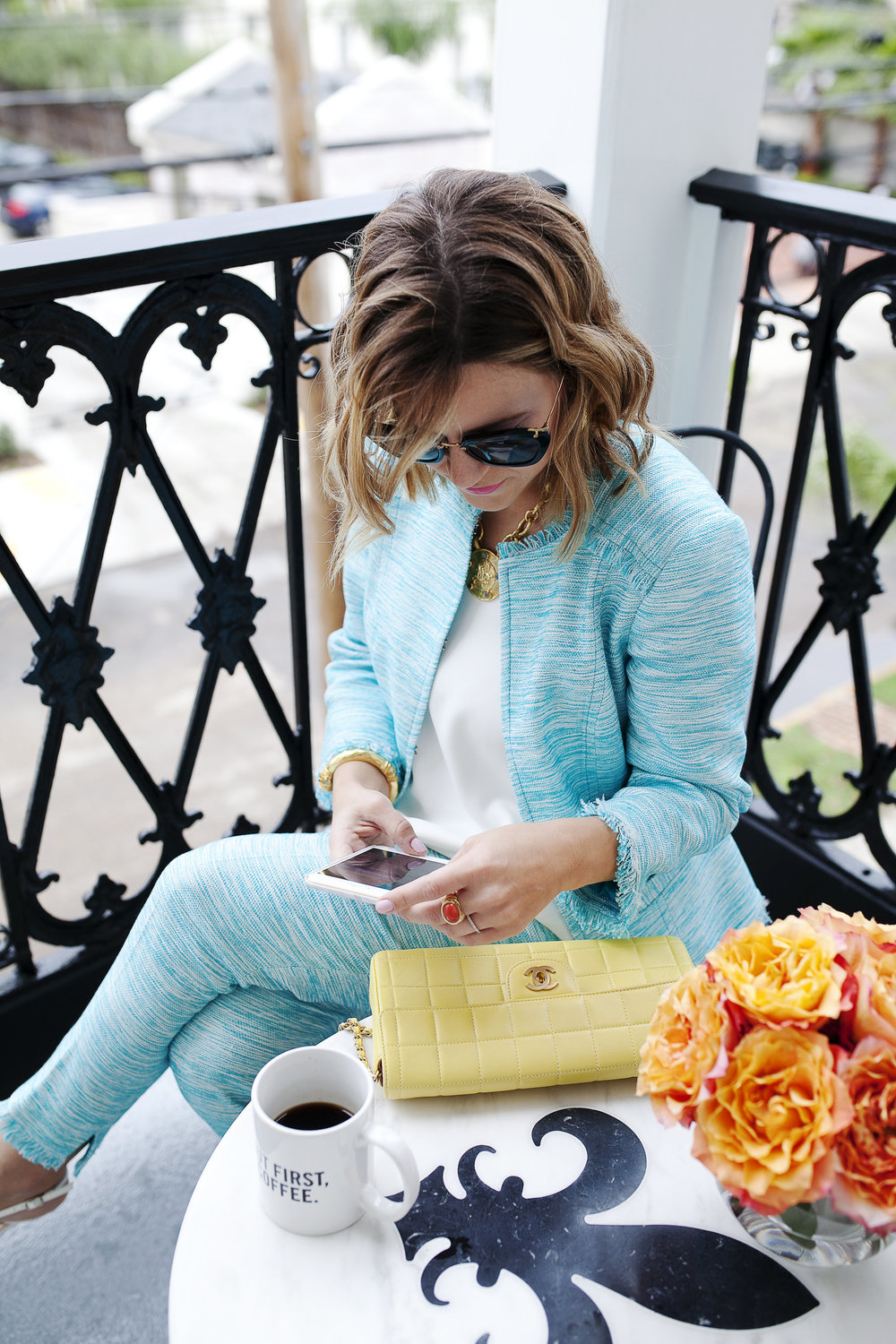 Trina Turk Turquoise matching set: yellow chanel: New Orleans Boutique Hotel- 5.jpg