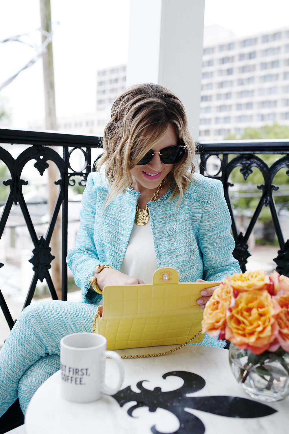 Trina Turk Turquoise matching set: yellow chanel: New Orleans Boutique Hotel- 3.jpg