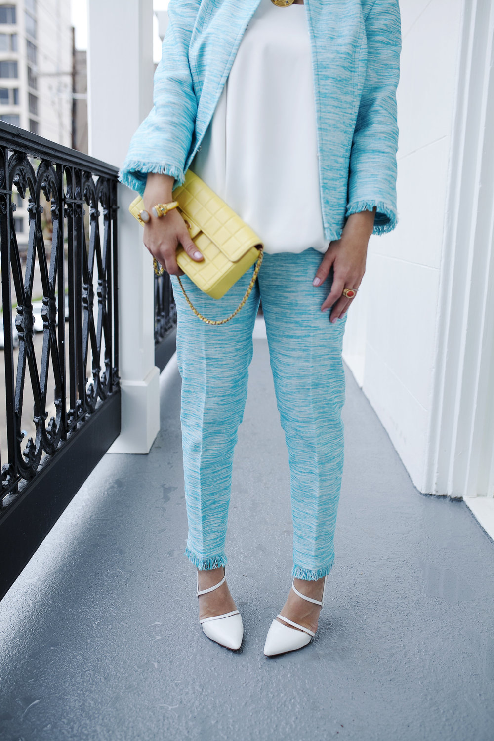 Trina Turk Turquoise matching set: yellow chanel: New Orleans Boutique Hotel- 9.jpg