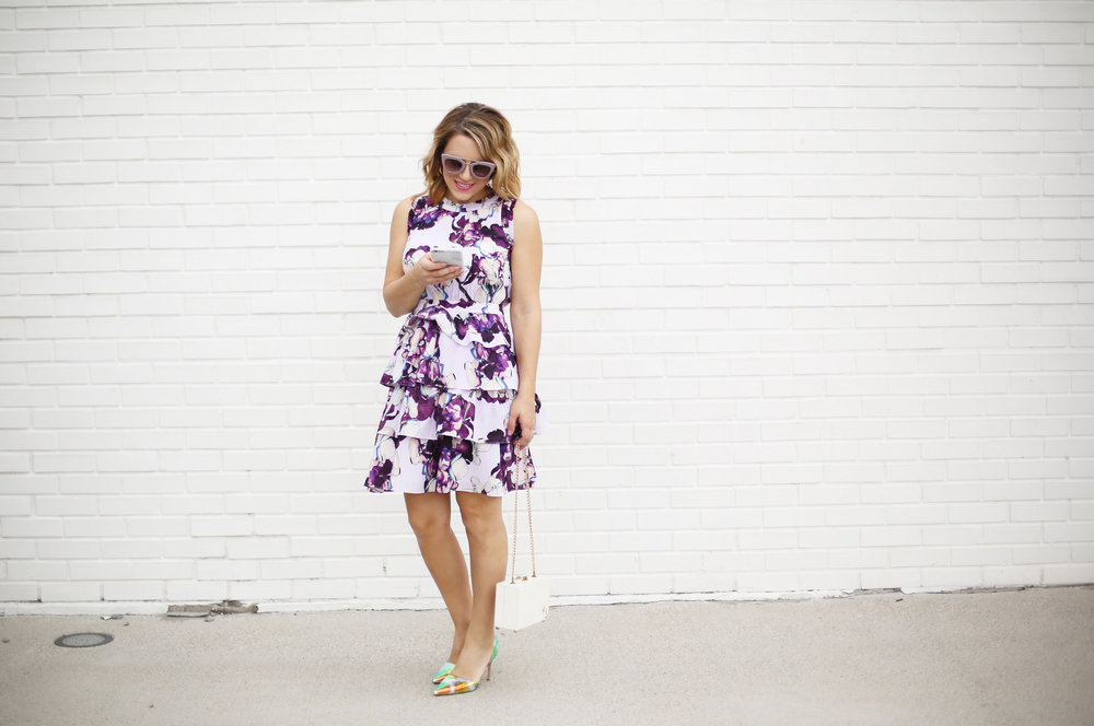 Banana Republic purple floral dress with ruffles 3.jpg
