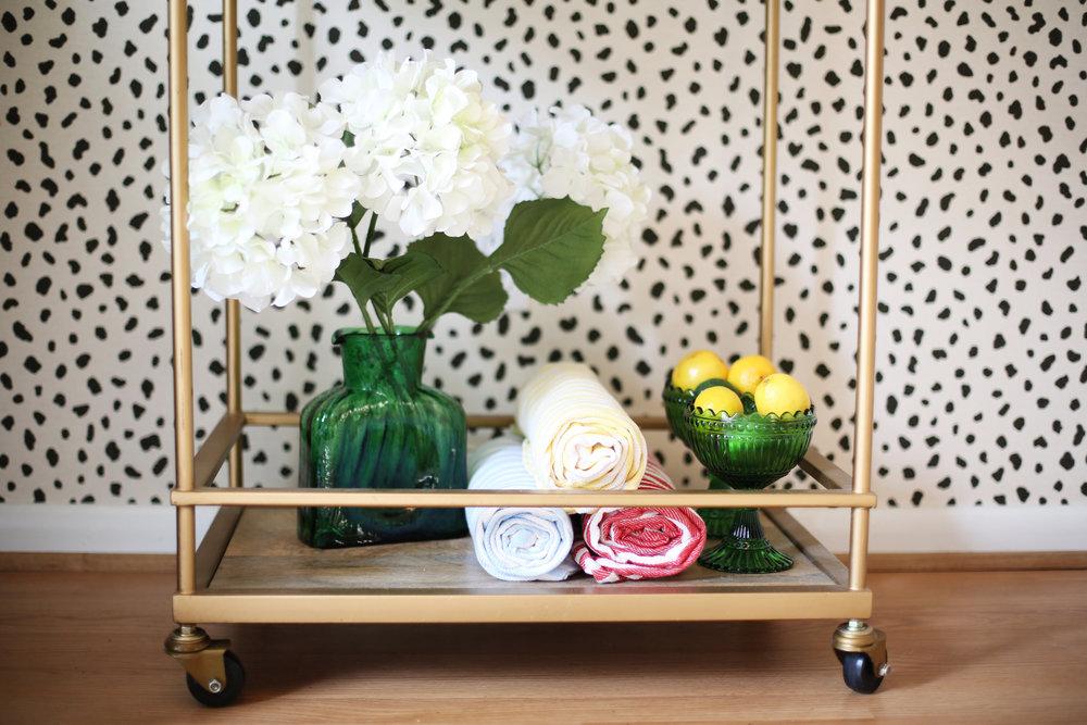 Summer Gold Bar Cart:summer wraps:tanzania wallpaper-1.jpg