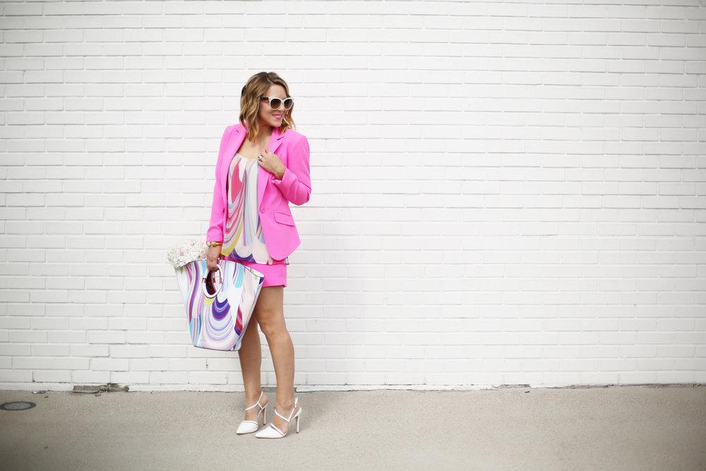 Summer Pink Short Set with Summer Bag- Trina Turk Set-2.jpg.jpg