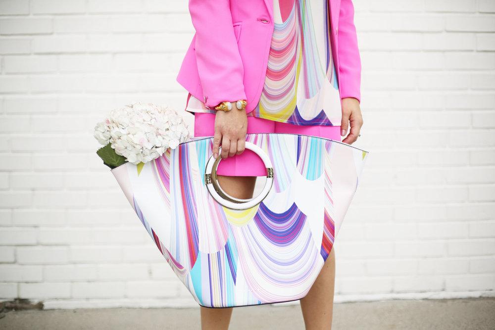 Summer Pink Short Set with Summer Bag- Trina Turk Set-6.jpg