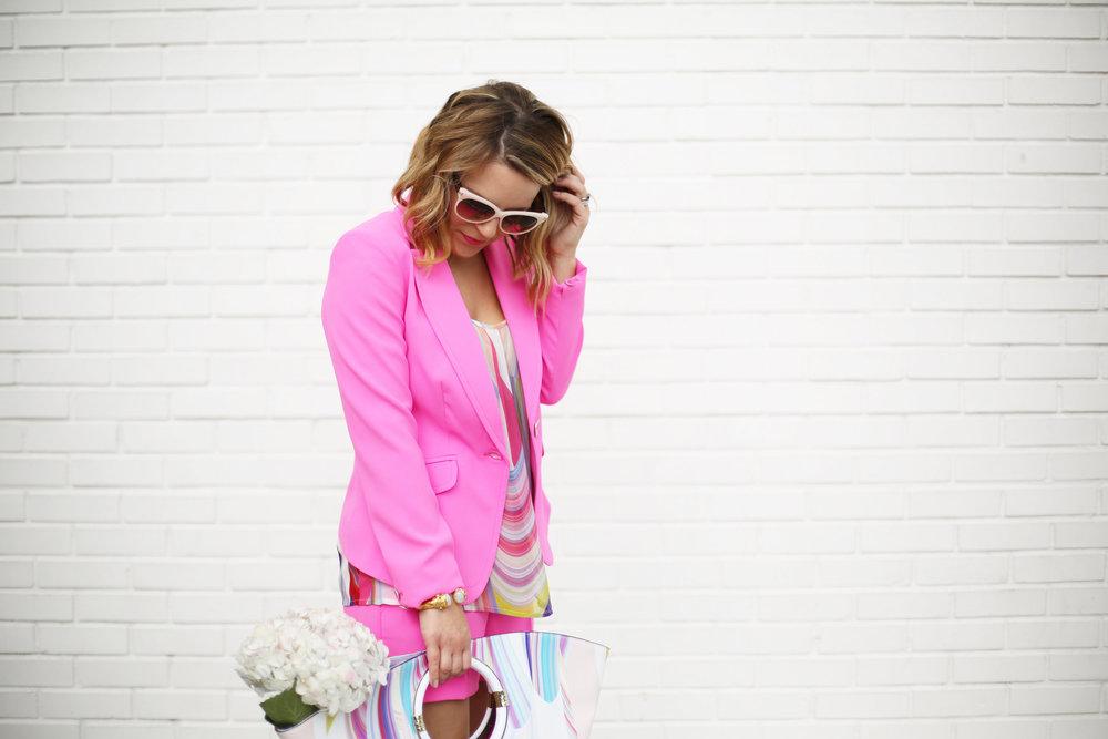 Summer Pink Short Set with Summer Bag- Trina Turk Set-3.jpg