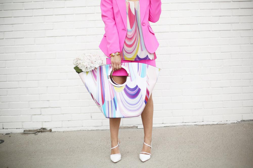 Summer Pink Short Set with Summer Bag- Trina Turk Set-5.jpg
