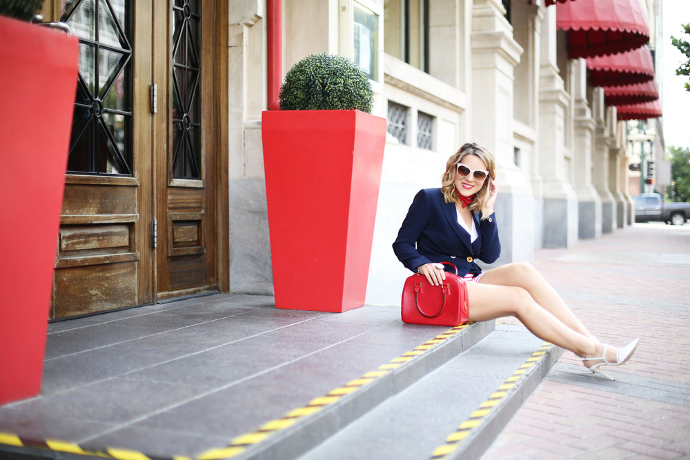 red, white and blue outfits, july 4th outfit, navy blazer and red handbag-11.jpg