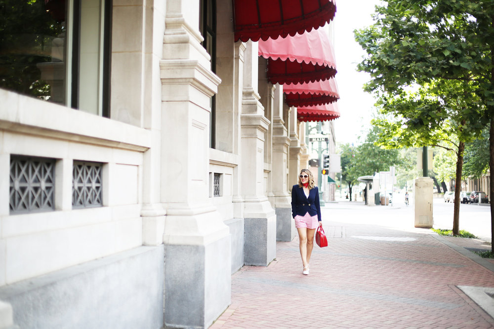 red, white and blue outfits, july 4th outfit, navy blazer and red handbag-2.jpg