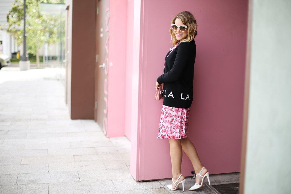 floral kate spade dress, pink wall, sprinkles cupcakes, chanel-8.jpg