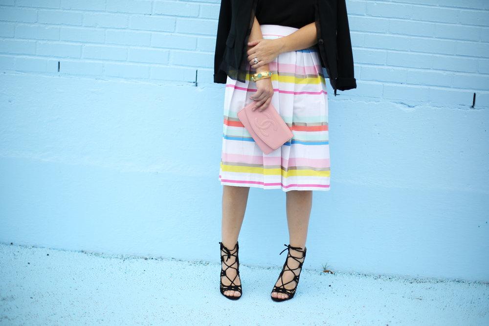 kate spade striped colorful skirt with black blazer-11.jpg