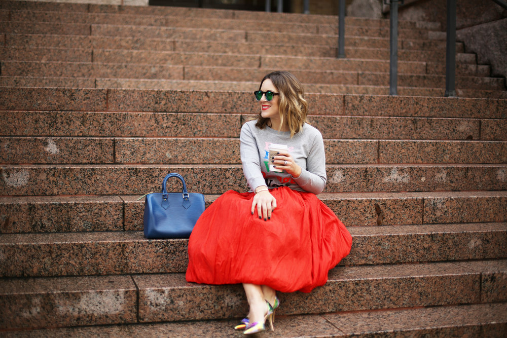 valentine's day outfit-red skirt-blue louis vuitton- j.crew top-4.jpg