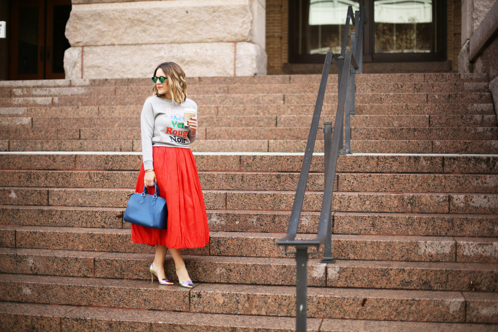 valentine's day outfit-red skirt-blue louis vuitton- j.crew top-10.jpg