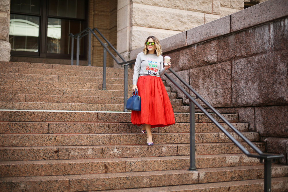 valentine's day outfit-red skirt-blue louis vuitton- j.crew top-8.jpg