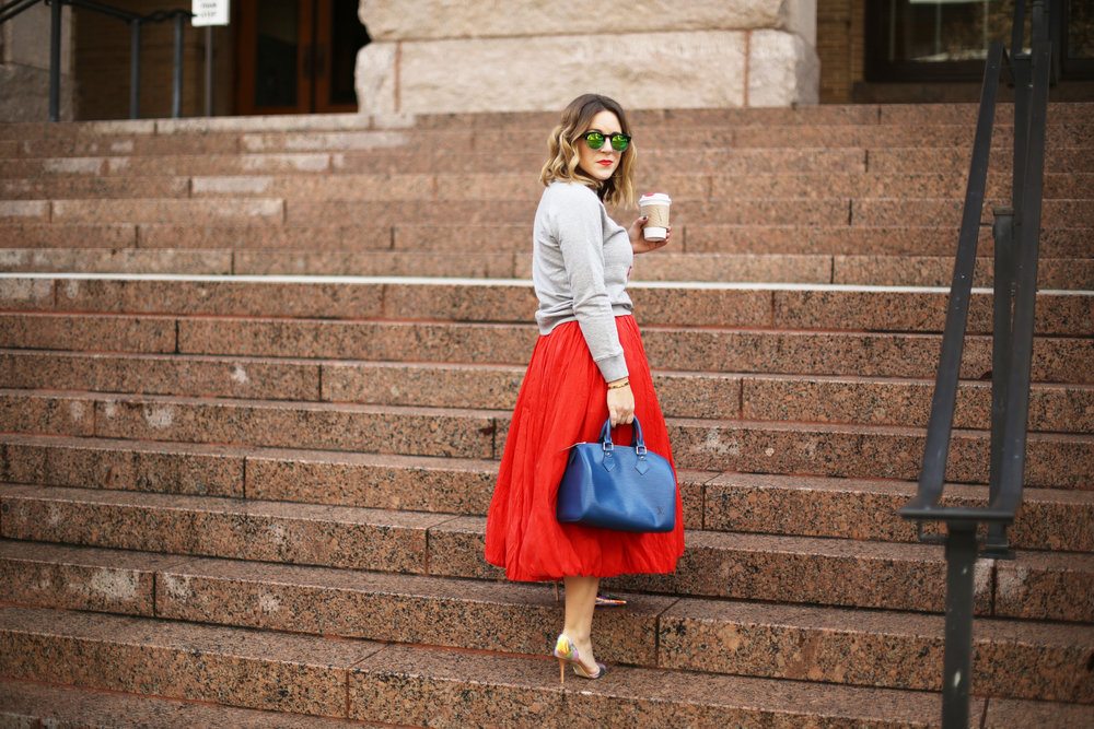 valentine's day outfit-red skirt-blue louis vuitton- j.crew top-13.jpg
