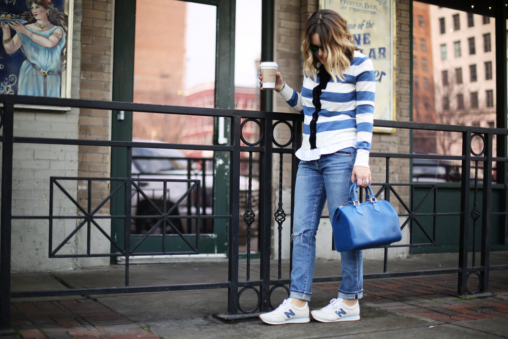 J.Crew striped cardigan with sneakers and blue epi louis vuitton-8.jpg