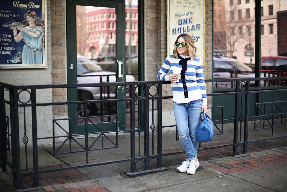 J.Crew striped cardigan with sneakers and blue epi louis vuitton-9.jpg
