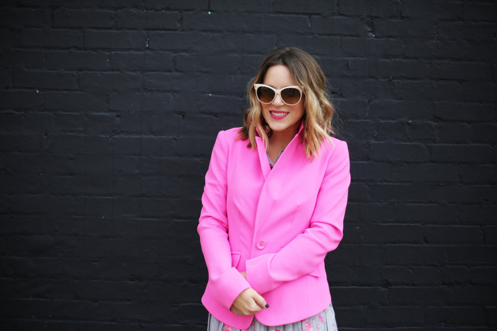 Pink Blazer: White Sunglasses: Banana Republic-7.jpg