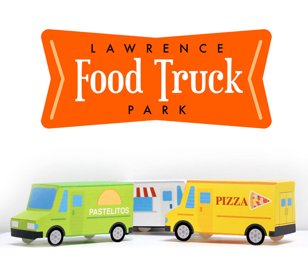 Food Truck Park Logo and Trucks