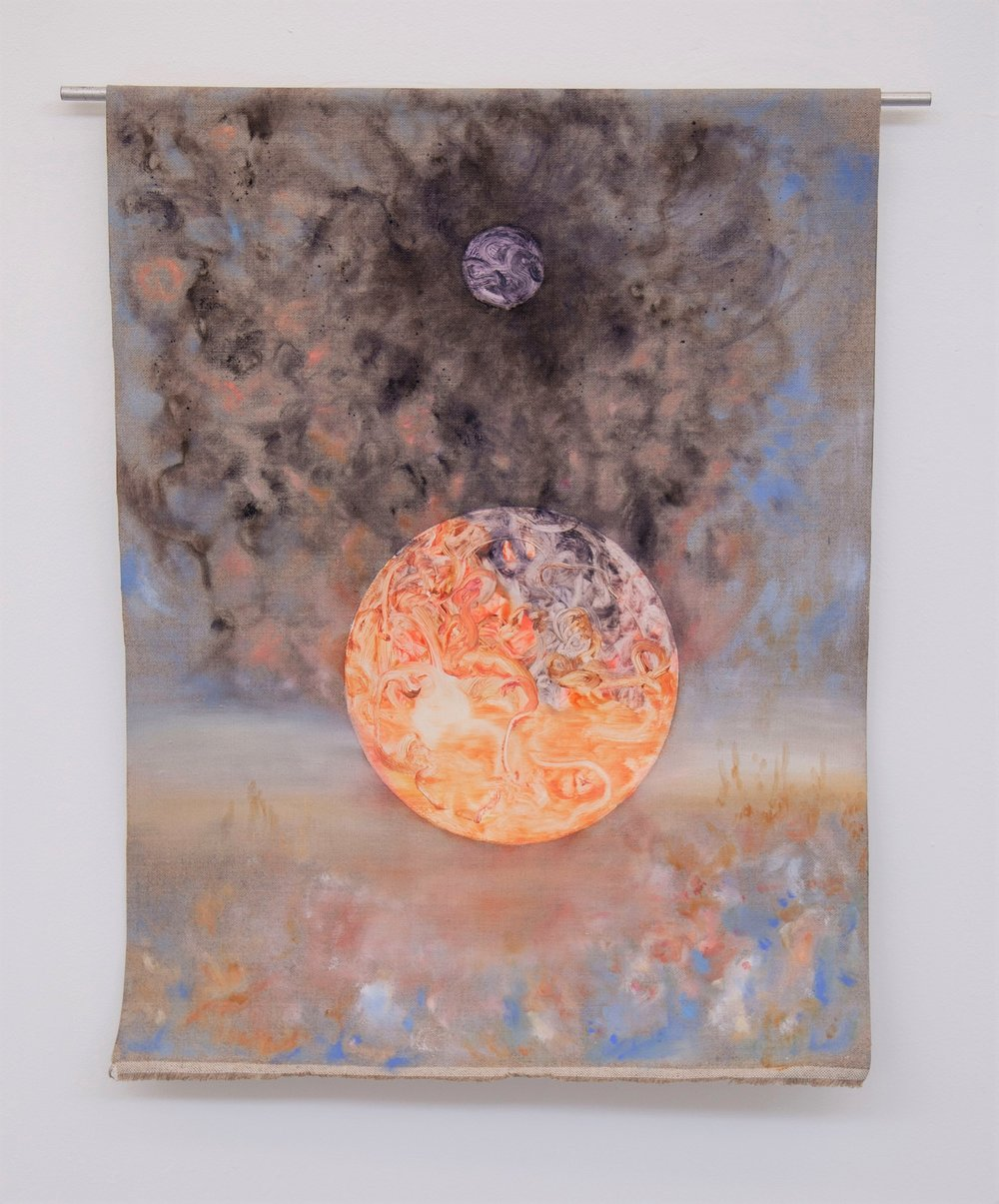 Solar Space    oil on linen  520mm x 690mm