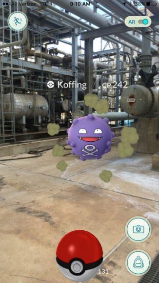 Pokemon at unnamed facility