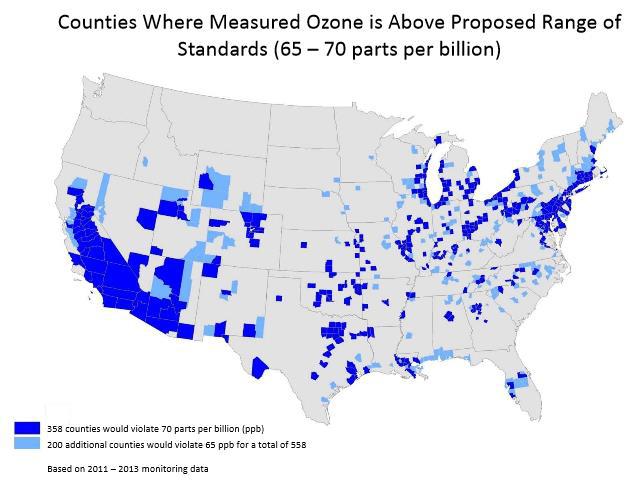 KBC - US - Measured Ozone is Above Proposed Range