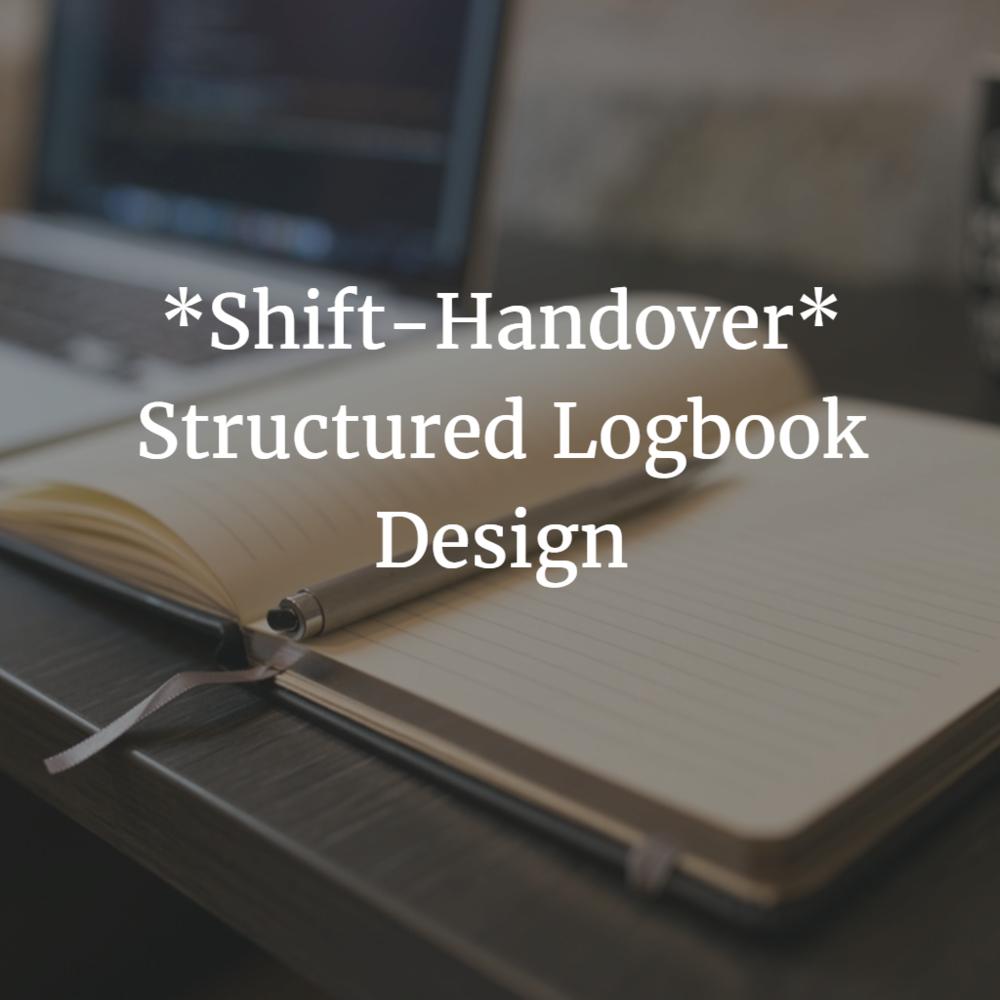 Shift-Handover: Structured Logbook Design — Yokogawa Advanced Solutions