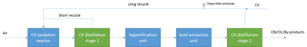 Figure 1: Simplified Process Flow Scheme