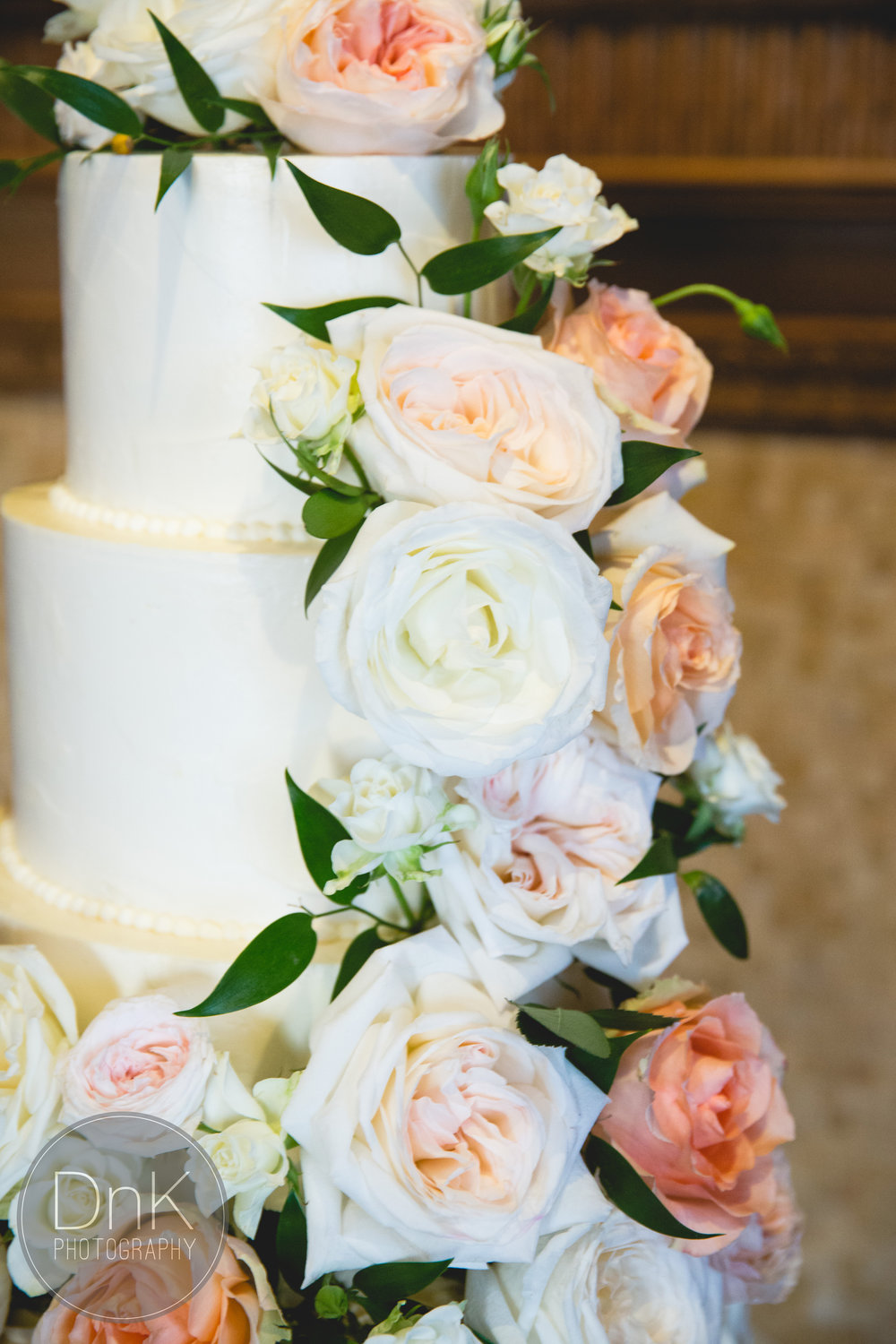 Captured by  DnK Photography  | Cake design by  Enticing Icing  | Fresh florals by  Sadie's Floral