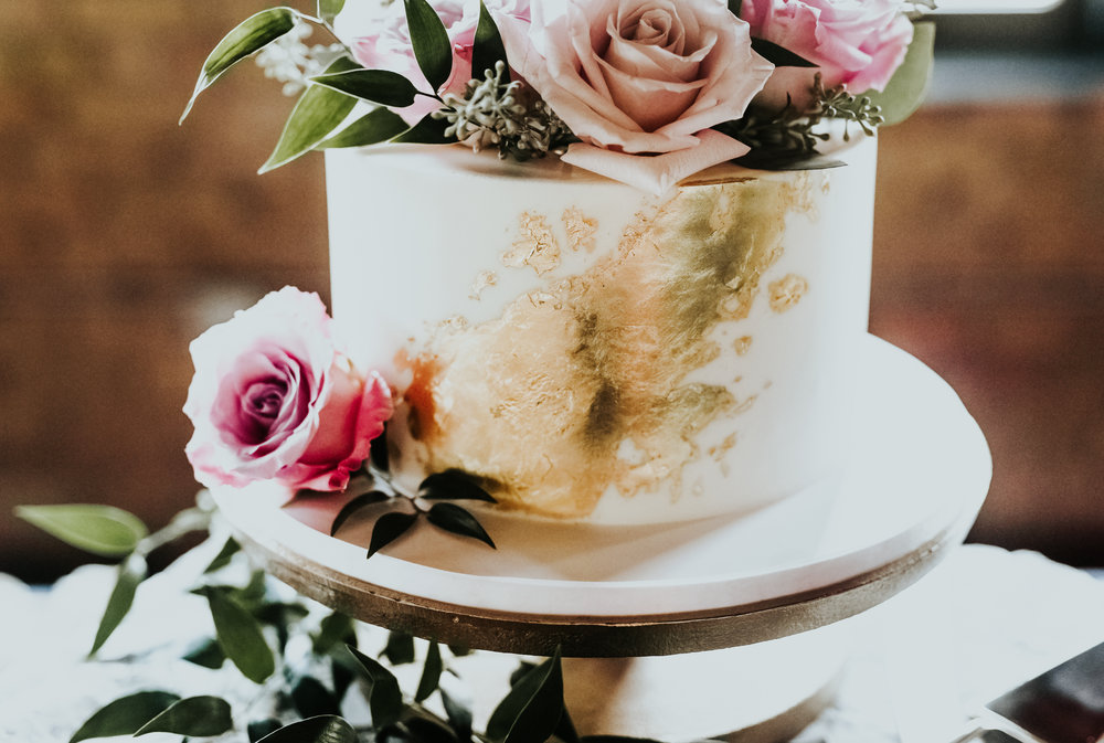 Tricia's cake has inspired many of my brides to incorporate gold leaf on their own wedding cakes. (And I couldn't be happier about it!)