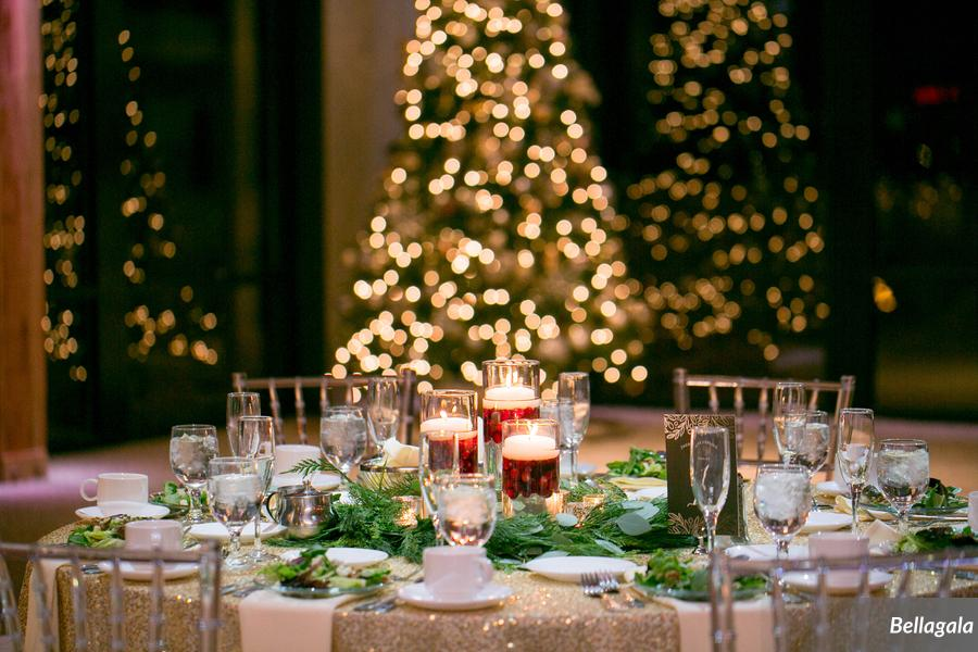 Christmas winter wedding