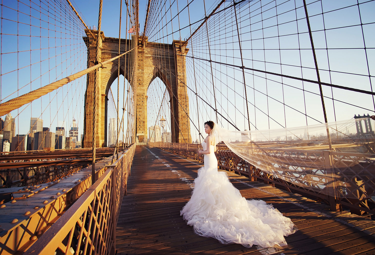 bridge wedding photography ideas