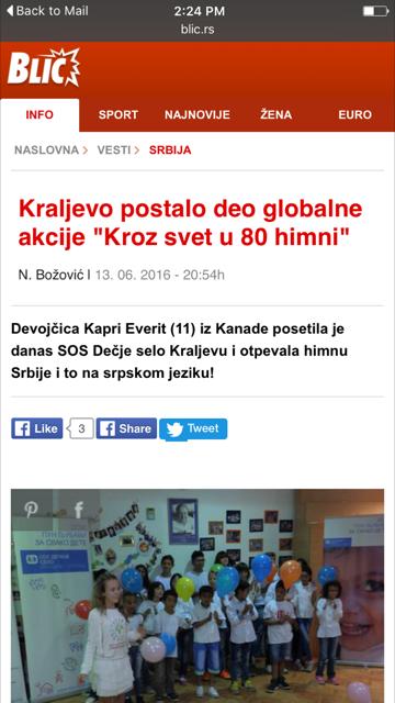 Blic: Serbia