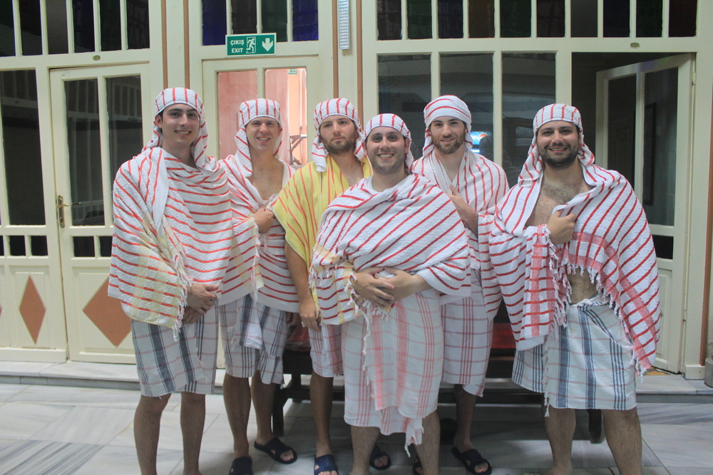 We were all toweled up following our Turkish Bath.  This is a must-do for everyone who visits!