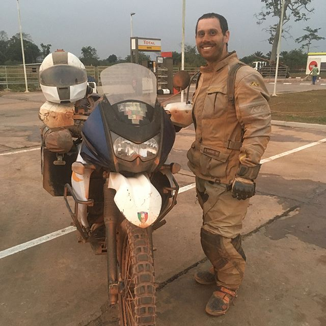 A special Happy Birthday to Gino yesterday. Two years in a row he has spent his birthday in two different countries. Last year was Japan and South Korea and this year was Gabon and Republic of Congo.  A long hard birthday doing 200 miles of tough off road riding to cross the border. Not very fun but memorable! Happy Birthday!! #klr650 #africa #klr #advrider #motorcycletravel #gabon #congo #travel #dirty #adventure