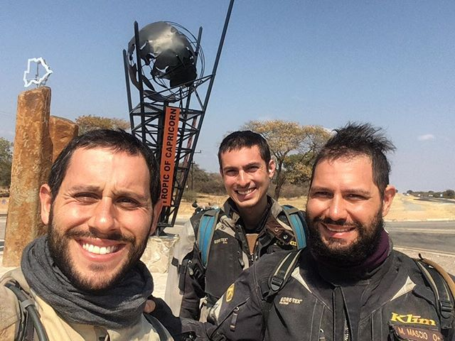 Officially out of the tropics, and it's cold enough to prove it! But we also have this cool sign to prove it.  #africa #botswana #tropical #cold #travel #moto #motorcycle #adventure #klrsonly #overland #brothers #cousins #almostdone